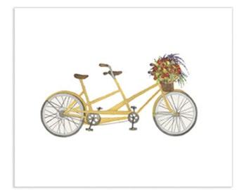 Bicycle Series - Fall Bicycle Art Print