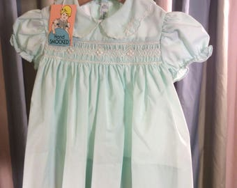 Vintage Baby Togs Mint Green Dress (9 Mos)