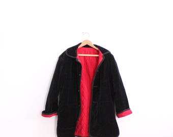 Reversible Quilted Velvet 90s Jacket