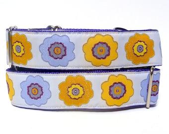 Martingale collar, dog collar, OPA 2, safety collar, training collar, lavender martingale, floral martingale, greyhound collar
