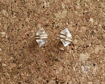 Herkimer Diamond Earrings - Medium