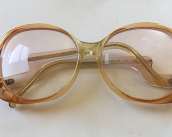 70s Glasses Vintage Eyeglass Frames - Big Eye Lens Eyeglasses - Ombre Shades