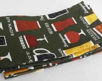 Large Cloth Napkins, Set of Four - Cheers! // Everyday Napkins // Family Napkins // Eco Friendly // Hostess Gift // Housewarming