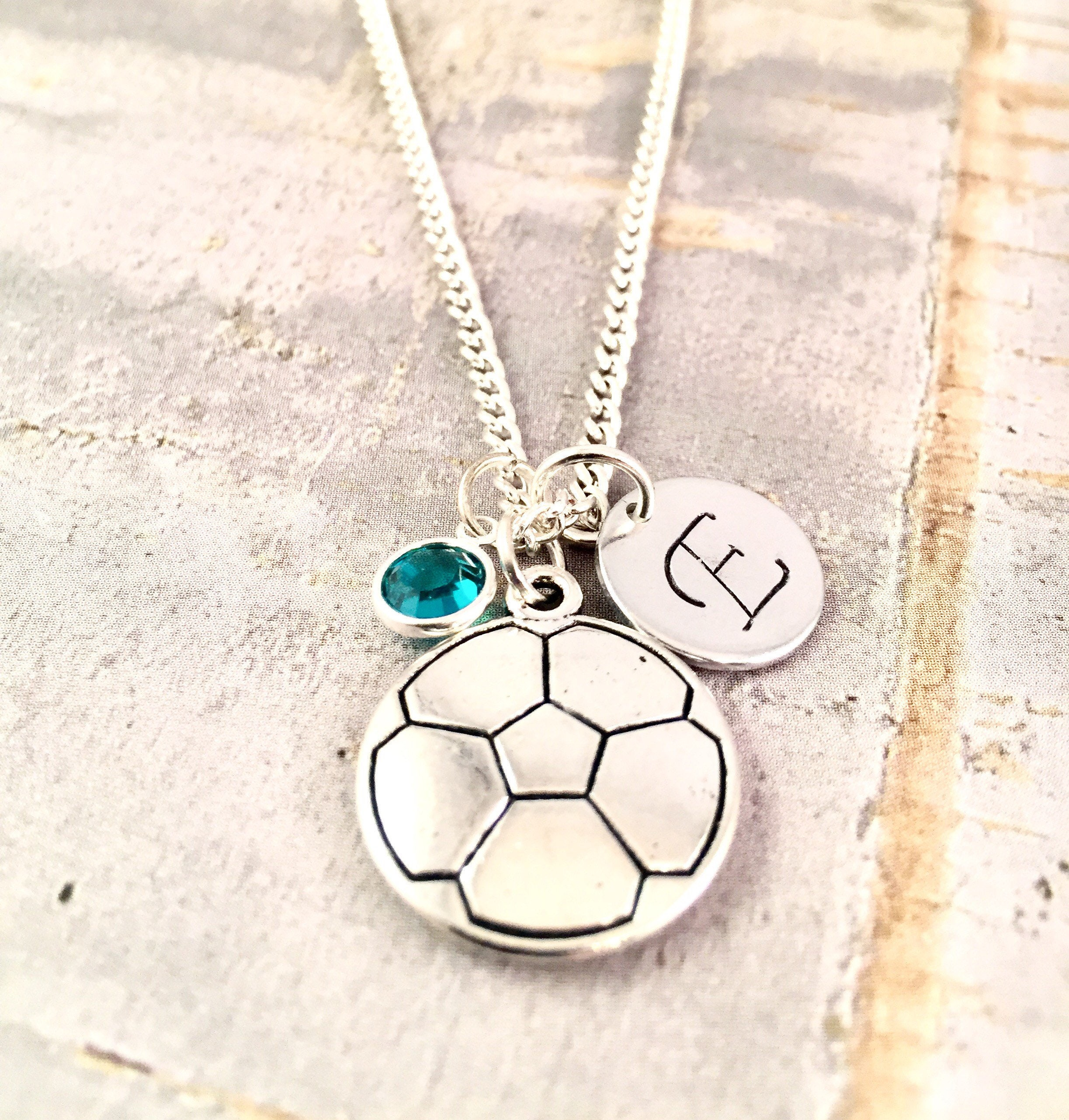 s soccer layered necklace claire pendant jingle bell long