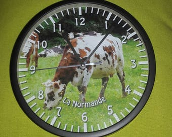 clock wall cow Normandy pattern