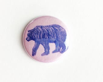"California bear Button -  Pin - bears - 1"" Pin Back Button - Collectible -  Button - bear Button -  bears Button"