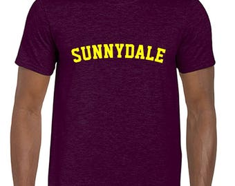 Maroon/Burgundy Sunnydale Buffy Style SHS Adult Unisex Tshirt With Print on Front Only School