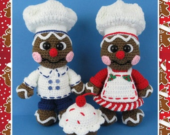 Gingerbread Bakers (PDF file only, this is not the finished doll)