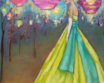 Meet me in the Garden- Canvas Print