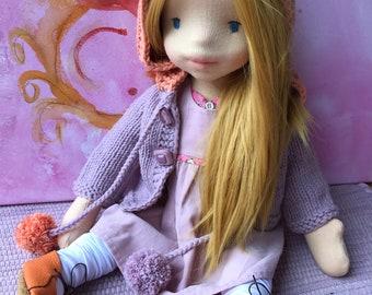 Waldorf Doll inspired Waldorfdoll, artist doll, Art Doll, Steinerpuppe, Doll, dolls