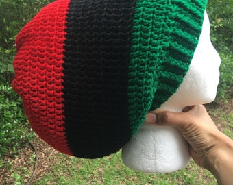Extra large Pan African Rasta red black green Jamaican