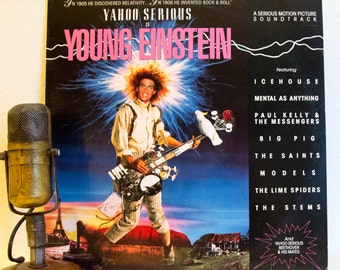 "Yahoo Serious Vinyl Record Album LP 1980s Comedy Australian Film Composer Rock and Roll Theoretical Physicist ""Young Einstein"" (1988 A&M)"