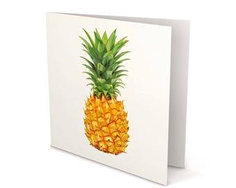 Pineapple Greeting Card, Pineapple, Pineapple card, Greeting Card, Square Card, Blank card