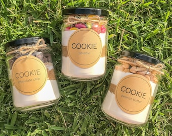 DIY Chewy Cookies - 250ml jar, Baking Mix, chocolate chip, reeces peanut butter, smartie