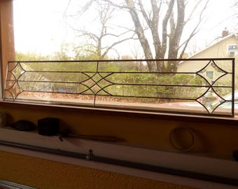 Clear Bevel Stained Glass Panel - Victoran Style Sidelights