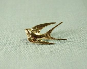 Gold Swallow Pin