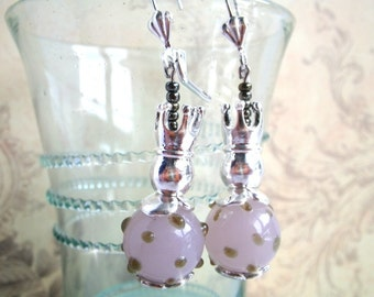 Princess and the pea - earrings dangle