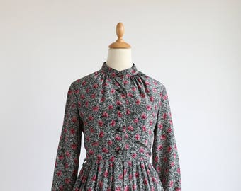 Eliza, rose dress, vintage, Japan, xs - small