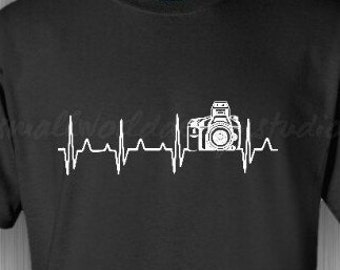 Photography Lovers - Heartline Camera TShirt