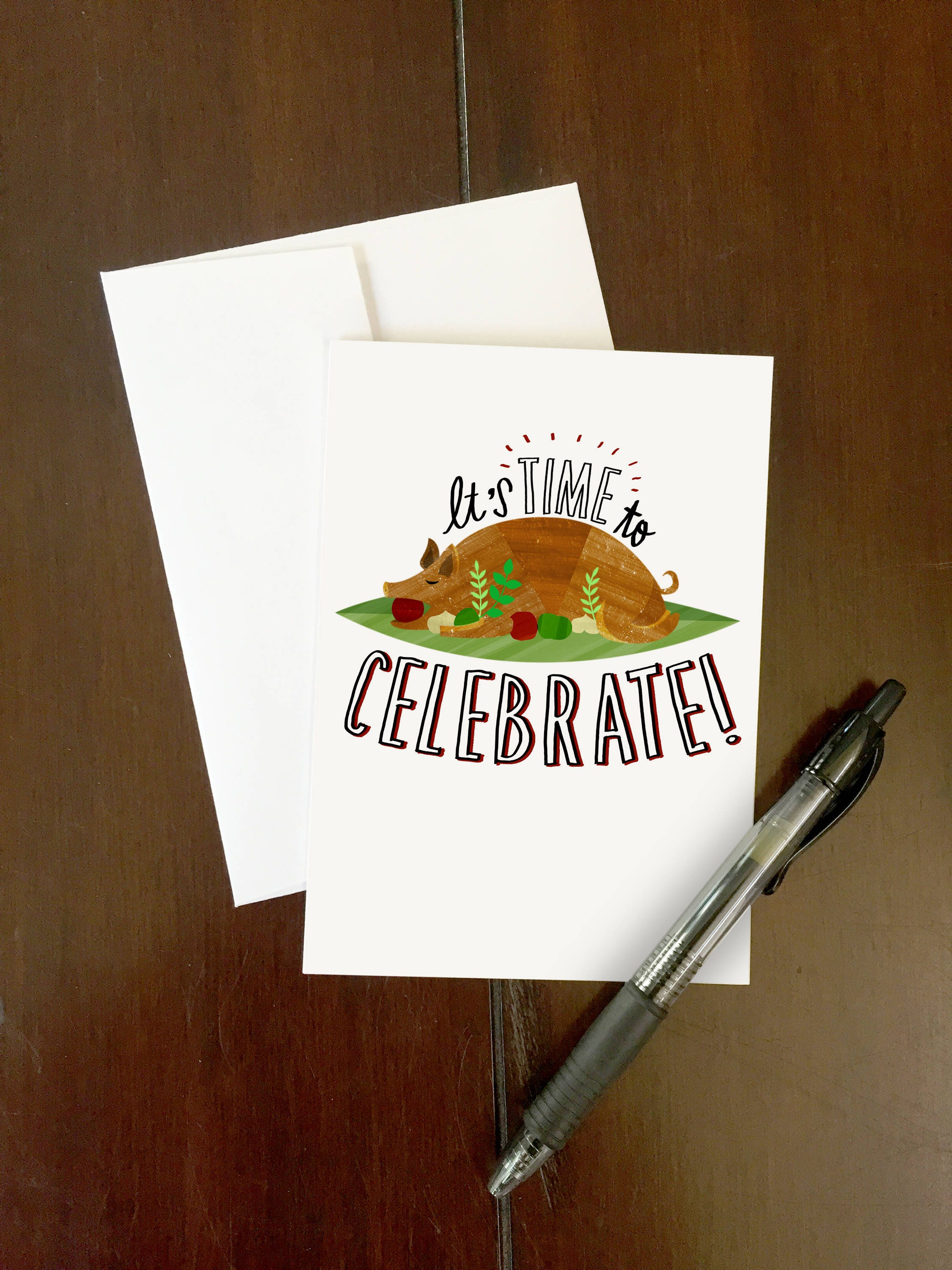 Lets celebrate happy birthday greeting card roasted zoom kristyandbryce Choice Image