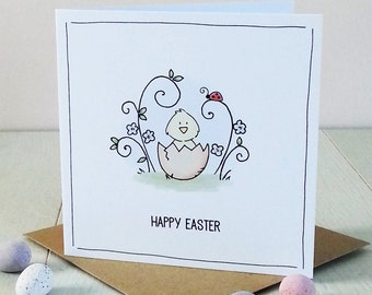 Cute Personalised Easter Card - Easter Card Pack - Easter Chick