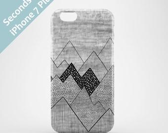 iPhone 7 Plus case Seconds Sale / illustrated iPhone 7 Plus cases / bargain iPhone 7 Plus cases / mountain phone case / 50 % off