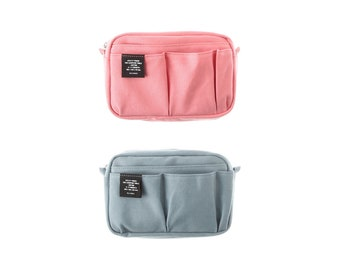 New Color! Stationery Bag, Canvas Bag In Bag, Bag Organizer, Makeup Pouch, Makeup Bag, Cosmetic Bag, Cosmetic Pouch, Planner Organiser, S