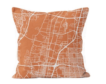 54 colors Albuquerque city map throw pillow cover, Albuquerque decor, Albuquerque gifts pride, Albuquerque new home missing moving