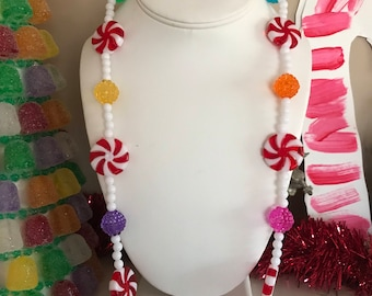 Peppermints and Gumdrops Necklace
