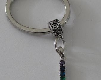 Sterling CHAKRA Key Ring - Key Chain -