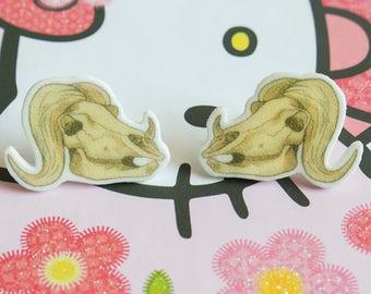 Ox Skull Studded Earrings