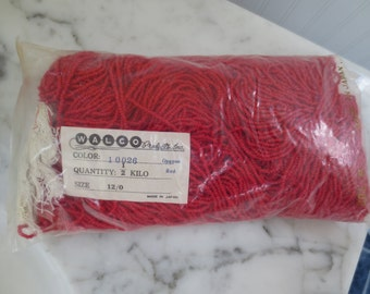 New Old Stock Walco Red Beads supplies for crafts
