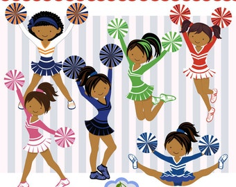 cheerleading clipart navy red more colors cheerleader rh etsy com Cheerleading Clip Art Borders Cheerleading Clip Art Borders