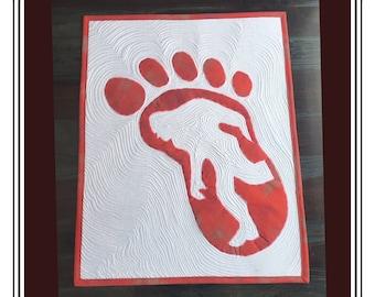 Mysterious Bigfoot Quilt Pattern.