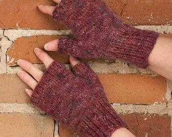 Easy Fingerless Mitten Knitting Pattern - PDF