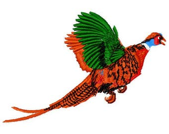 Pheasant Machine Embroidery Design - Instant Download