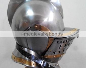 burgonet helmet armour medieval knight helmets