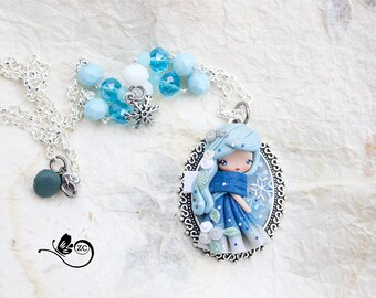 polymer clay necklace /country collection/ fimo / clay / polymerclay