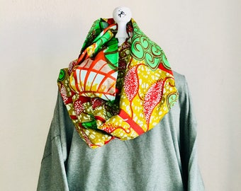 Infinity Scarf - African - OBI Scarf - Merry