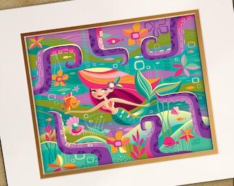 The Littlest Mermaid Print