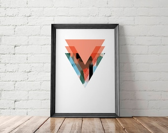 Triangle Printable, Triangle Art Print, Triangle Wall Decor, Triangle Poster, Geometric Printable, Geometric Art Print, Geometric Wall Decor