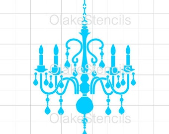 Chandelier stencil etsy olg053 chandelier stencil aloadofball Image collections