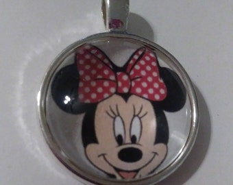Minnie Mouse Inspired Pendant