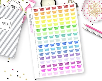 119 Laundry Basket Stickers for Erin Condren Life Planner, Plum Paper or Mambi Happy Planner || I1003