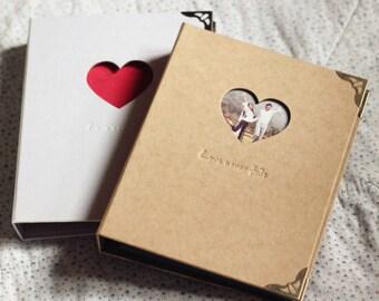 Photo Album, black kraft Photo Album, blank scrapbook Album, 3 Rings Binder, white, Heart photo Album, Wedding Album, Baby photo Album