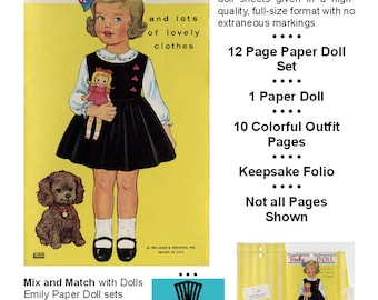Vintage Paper Dolls _ TRUDY Paper Doll _ Paper Toy _ Paper Craft _ Collage Sheet _ PDF _ Digital Download + BONUS How-to Guide