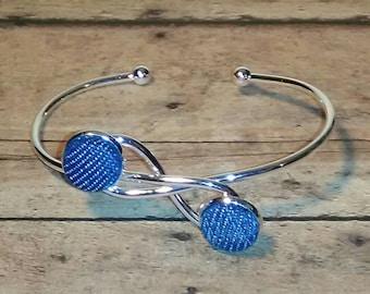 Denim Infinity Cuff Bracelet