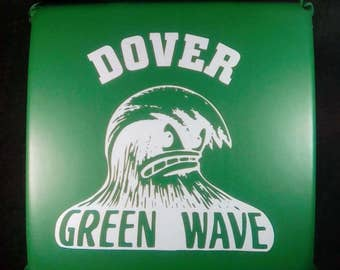 Vintage Football Stadium Seat Cushion,  Dover Green Wave, Dover High School, Dover New Hampshire, Old School Football, Football Collectible