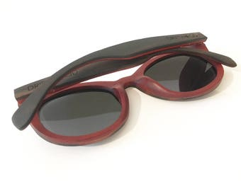 Ebony & Rose Wood Driftwood Sunglasses