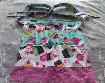 Child's Crayon Holder Apron, Crayon Apron - Eight Crayons Included
